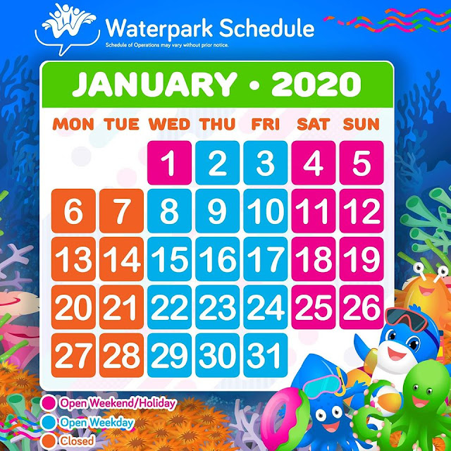 WaterWorld Cebu Operating Hours and Schedules