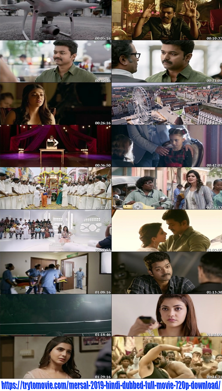 Mersal 2019 Hindi Dubbed Full Movie 720p Download