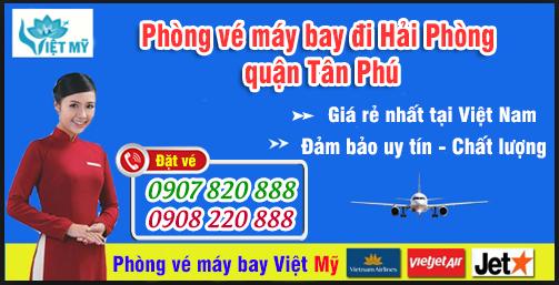Phòng vé máy bay đi Hải Phòng tại quận Tân Phú