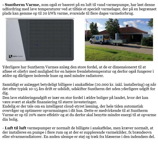 Nærvarme fra Suntherm Varme med patenteret varmelager – perfekt til erstatning af oliefyr