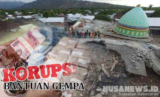 Malumologi Korupsi Dana Bantuan Gempa