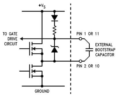LMD18200 Bootstrap Circuit Diagram and Datasheet