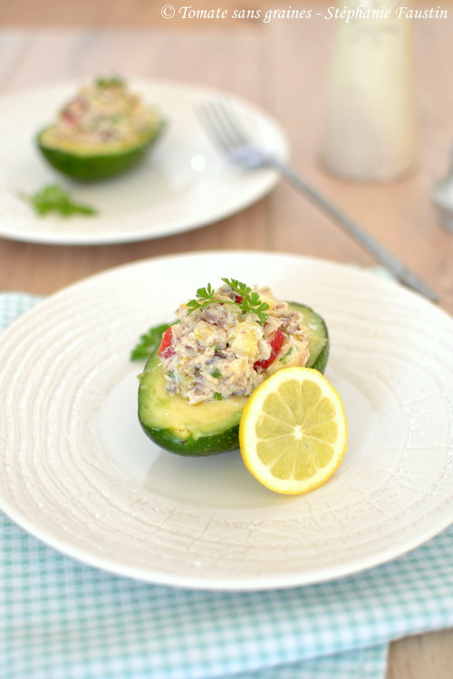 Avocat aux pommes et sardines