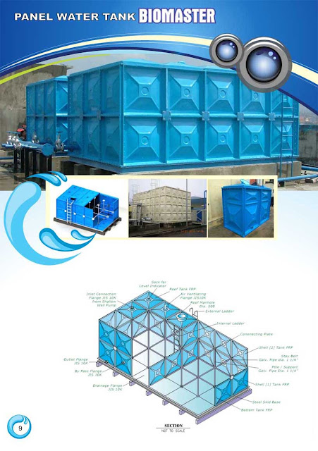 panel water tank frp biomaster biotech