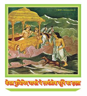 केवल युधिष्ठिर जानते थे स्वर्गलोक पहुँचने का रास्ता- Only Yudhishthira knew the way to reach heaven
