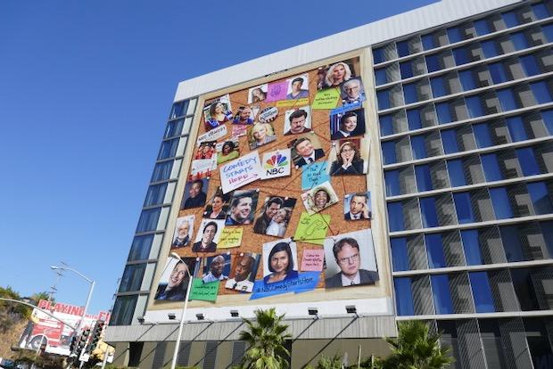 NBC Comedy starts here pinboard billboard