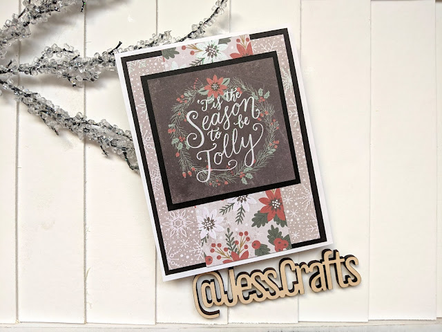Christmas Cards with Michaels Recollections Holiday Homestead 6x6 Paper Pad by Jess Crafts