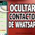 Cómo ocultar contactos en whatsapp