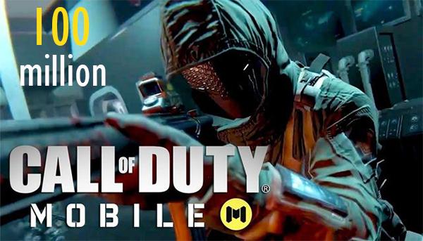 حققت لعبة Call of Duty Mobile خلال أسبوع رقم قياسيا سريع من ناحية عدد التحميل حيث وصل إلى 100 مليون عملية تنزيل في أسبوع واحد فقط على كل من متجرها الألكتروني أندرويد وiso وذلك بعد إيام قليل عن أعلان عنها بشكل رسمي .  وفق لتقرير صادر عن شركةSensorTower  للأبحاث التطبيقات حيث يشير هذا التقرير إلى أن اللعبة تفوقت على أرقام التنزيل في ظرف الأسبوع الأول وهكذا فقد تفوقت لعبة Call of Duty Mobile على كل من  ألعاب أخرى ذات شعبي كبير مثل لعبة PUBG وFortnite بحيث حصلت PUBG على 28 مليون عملية تنزيل خلال الأسبوع الأول من الإطلاق وحصلت أيضا Fortnite على 22 مليون عملية تنزيل .  وفق لتقرير أيضا فإن لعبة PUBG كانت قد أصدراه في مناطق محددة ، وكانت Fortnite تعمل فقط على نظام iso فقط في البداية عكس لعبة Call of Duty Mobile التي أطلقت على كل المنصات في جميع البلدان بأستثناء الصين والفيتنام وبلجيكا وهو ما أدى إلى حصولها على هذا رقم قياسيا خلال أسبوع واحد فقط .  وجاء في تقريرSensorTower أيضا على 55.7 في المئة من للاعبين يمارسون لعبة Call of Duty Mobile على أجهزة  iso فيما 44.3 على هواتف أندرويد .