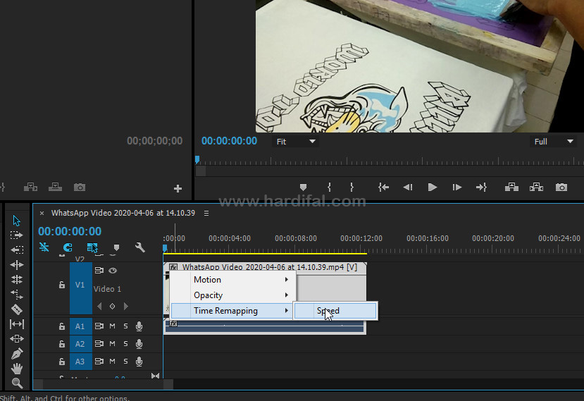 Time Remapping di Adobe Premiere