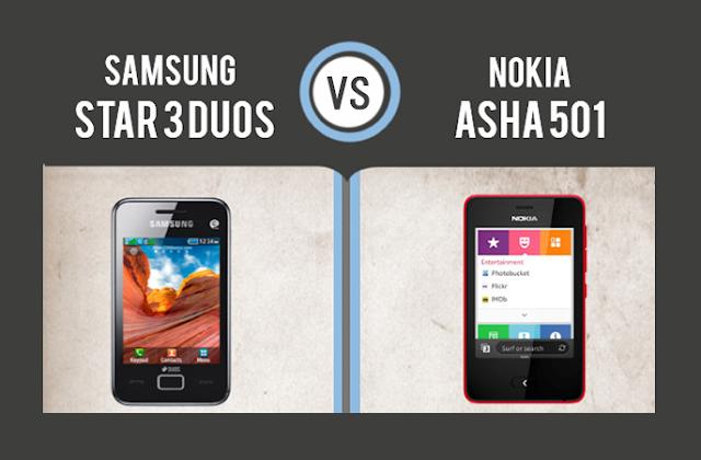 Nokia Asha 501 Vs Samsung Star 3 Duos #infographic