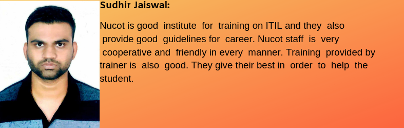 Sudhir Jaiswal- Testimonial / Review About Nucot