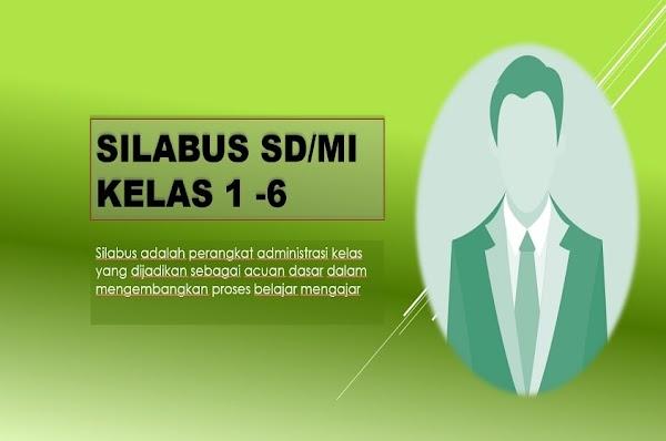 Silabus SD/MI Kelas 1-6 Kurikulum 2013 | Semua Bidang Studi