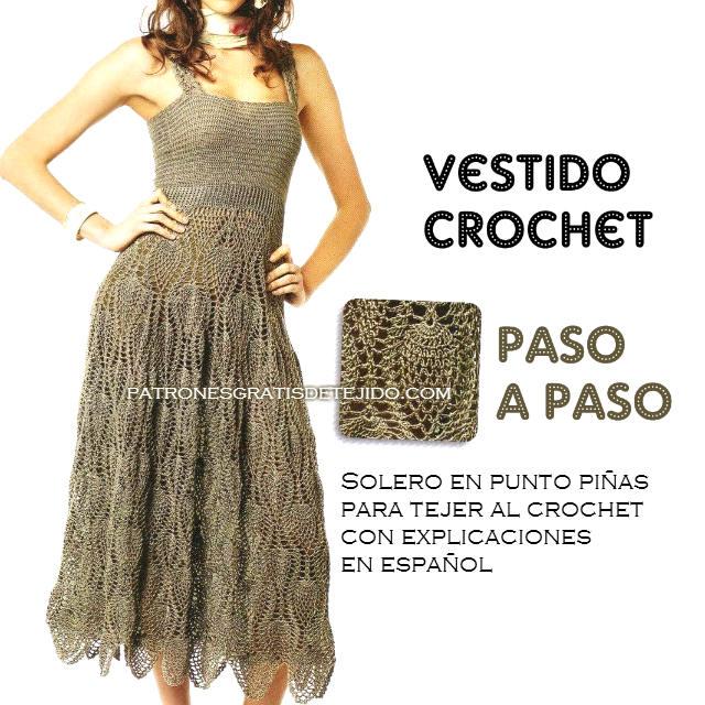 Solero tejido al crochet / Paso a paso | Crochet y Dos agujas ...