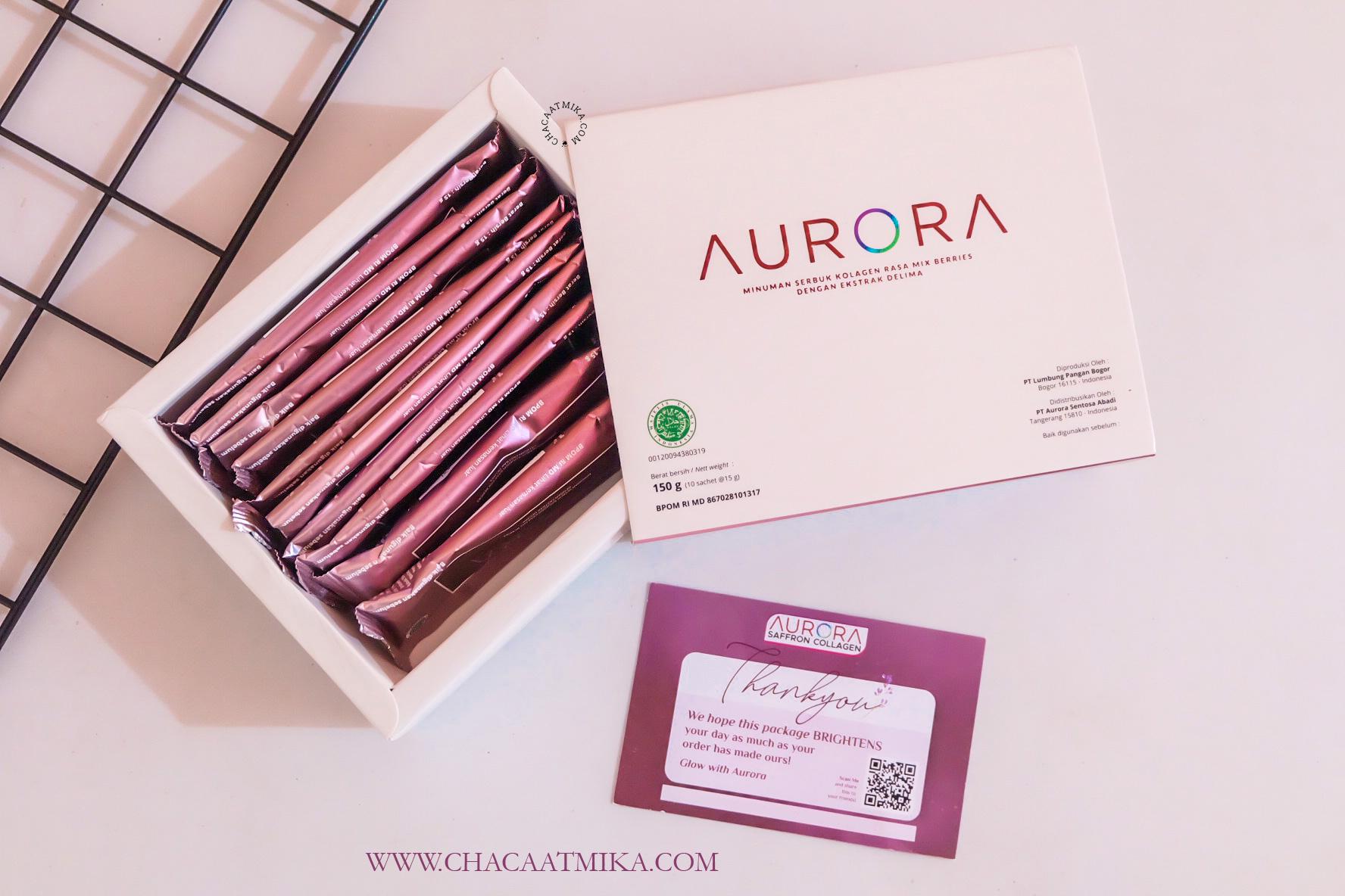 [Review] Aurora Saffron Collagen, Minuman Serbuk Kolagen Ber-Saffron Pertama di Dunia