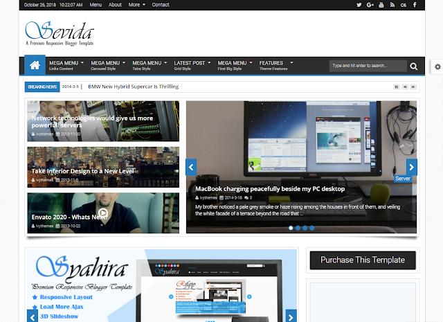 Chia sẻ Template Blog Sevida