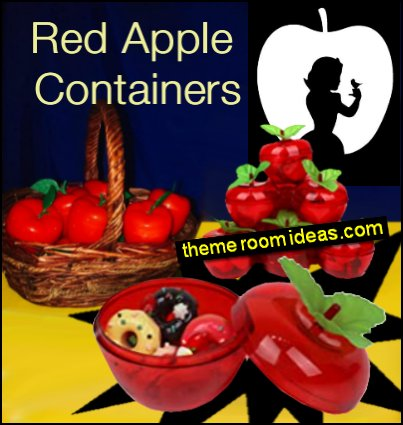 Red Apple Containers snow white party table decorations apple party decorations snow white themed party Apple Party Favors