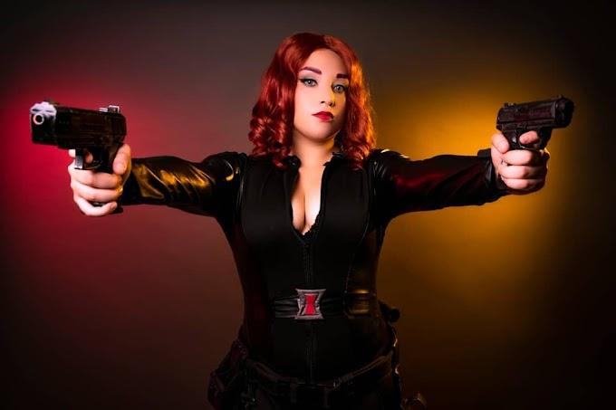 Ddlove con su cosplay de Black Widow