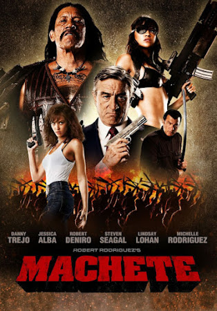 Poster Of Machete In Dual Audio Hindi English 300MB Compressed Small Size Pc Movie Free Download Only At worldfree4u.com
