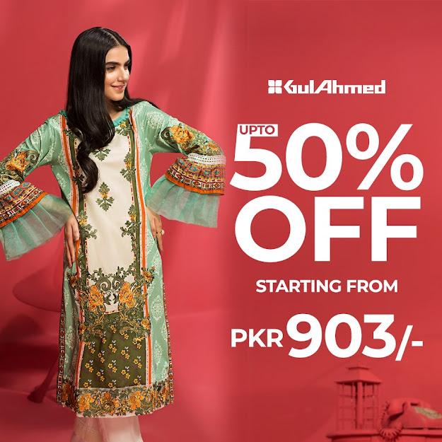 Gul Ahmed Eid-ul-Fitr sale collection