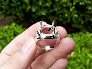 Ring Perak Hongkong 925 Kombinasi Batu Zircon Indah PRK045 Mewah