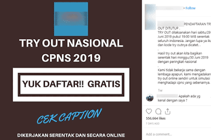 BKN: Berhati-hatilah Terhadap Ajakan Try Out Gratis CPNS 2019 Nasional