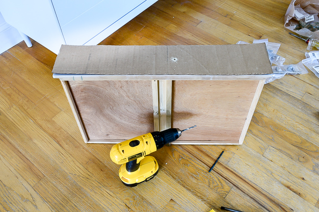 Drilling holes in template for new drawer hardware