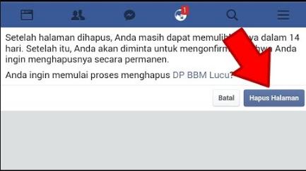 Cara Menghapus Halaman di Facebook 1
