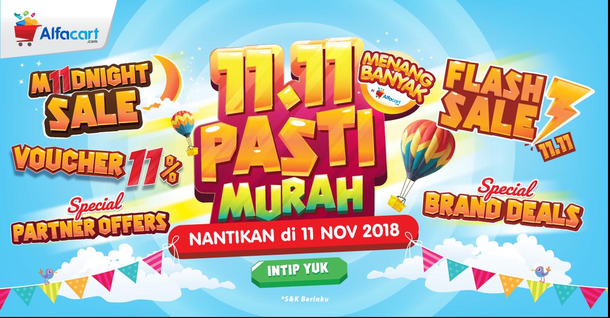 Alfamart - Promo Festival 11.11 Flash Sale & DIskon + Ekstra 11% (11 Nov 2018)