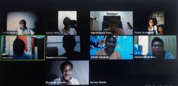 Diskusi daring Komunitas Sastra Papua pada Rabu (12/8/2020). – Jubi/Timo Marten