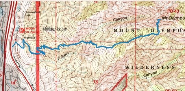 Hiking Mt. Olympus trail info & map