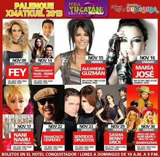 Artistas del palenque FEria Yucatán 2013