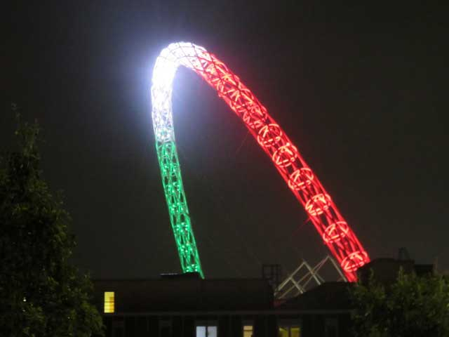 Italy light up Wembley