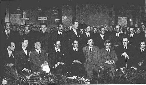 Les participants du tournoi international d'échecs de Moscou 1925