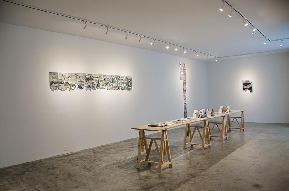 Obras sobre papel en la galería Spazio Zero