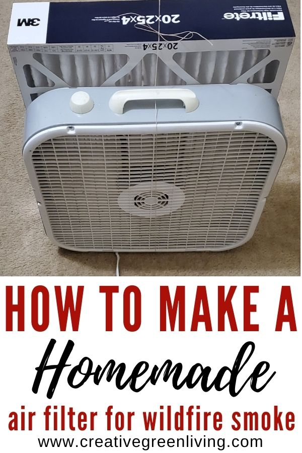 Make you own HEPA filtration system for the smoke and allergens in the air. This homemade air filter works just as well as a commercial air purifier to remove wildfire smoke and allergens and make the air inside your house healthier.