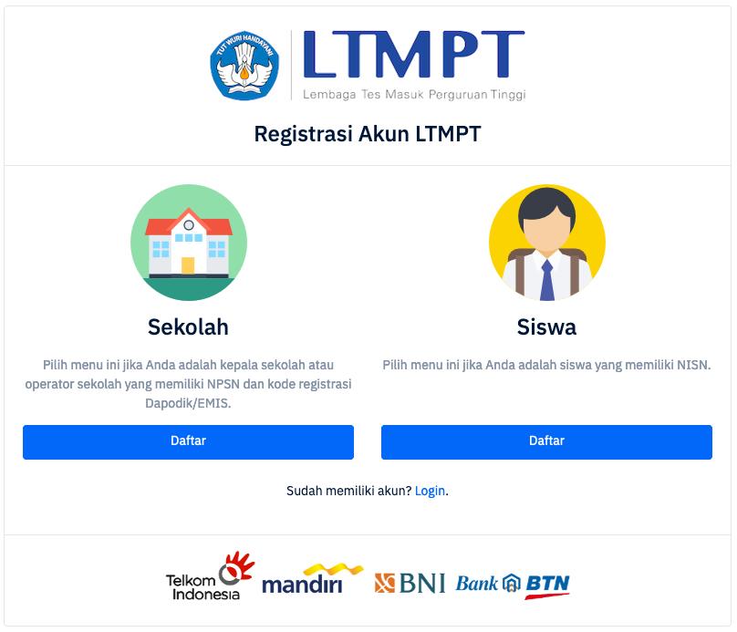 Pendaftaran Online Utbk Sbmptn 2021 2022 Pendaftaran Net 2021 2022