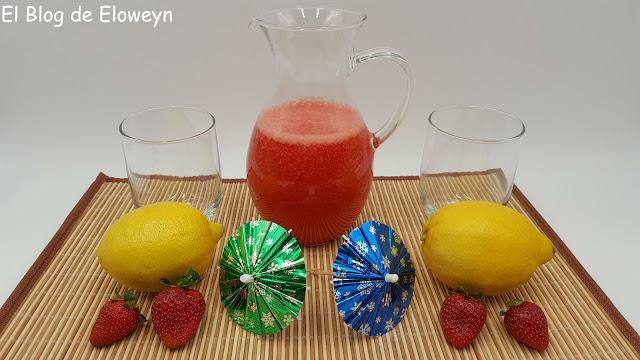 Limonada de fresas
