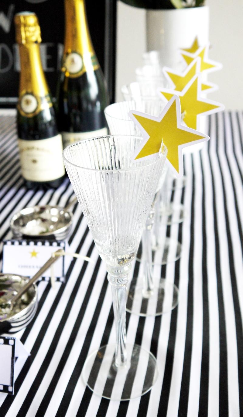 Oscars Viewing Party Ideas   DIY Popcorn Bar & Printables - BirdsParty.com