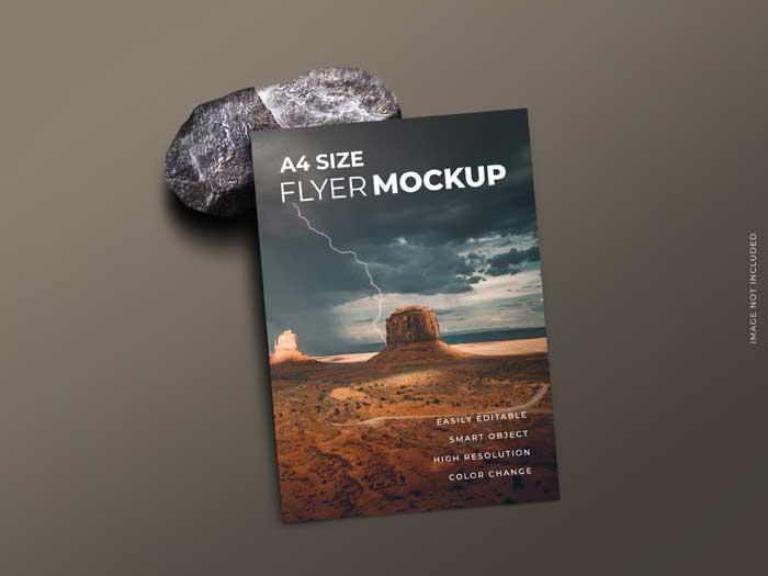 Single Page Flyer Brochure Mockup