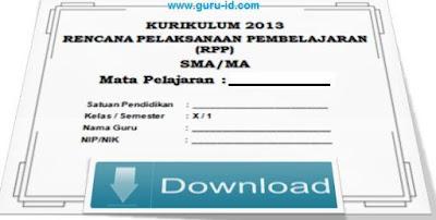 gambar RPP SMA KTSP Bahasa Indonesia Semester 1 dan 2