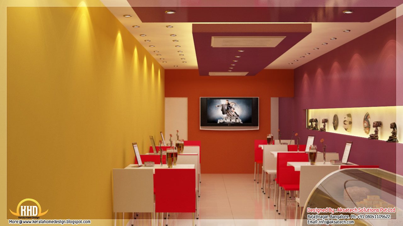 Interior design ideas for office and restaurants kerala for Small indian house interior design photos