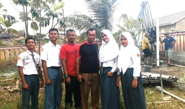Sebagai Langkah Mendapatkan Penyediaan Air Bersih, SMA Negeri 21 Palembang Buat Sumur Bor