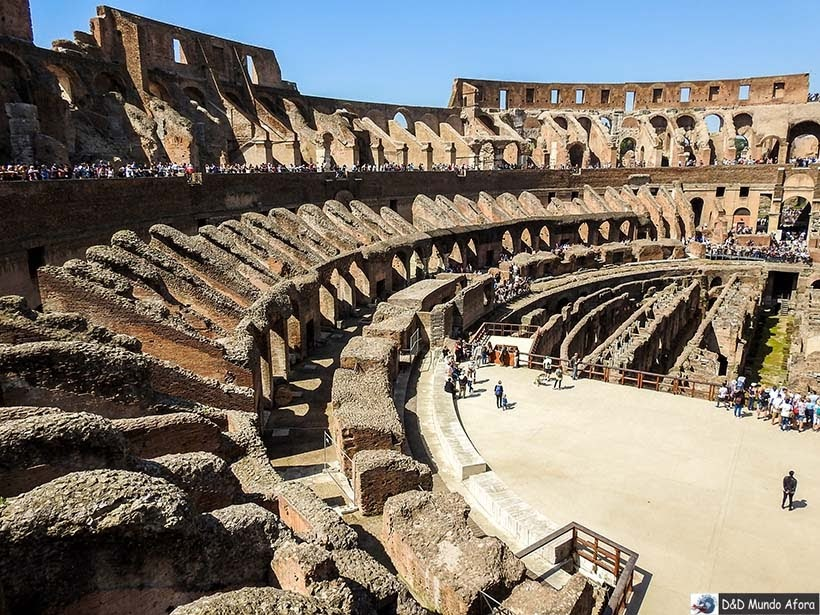 Interior do Coliseu de Roma: como visitar