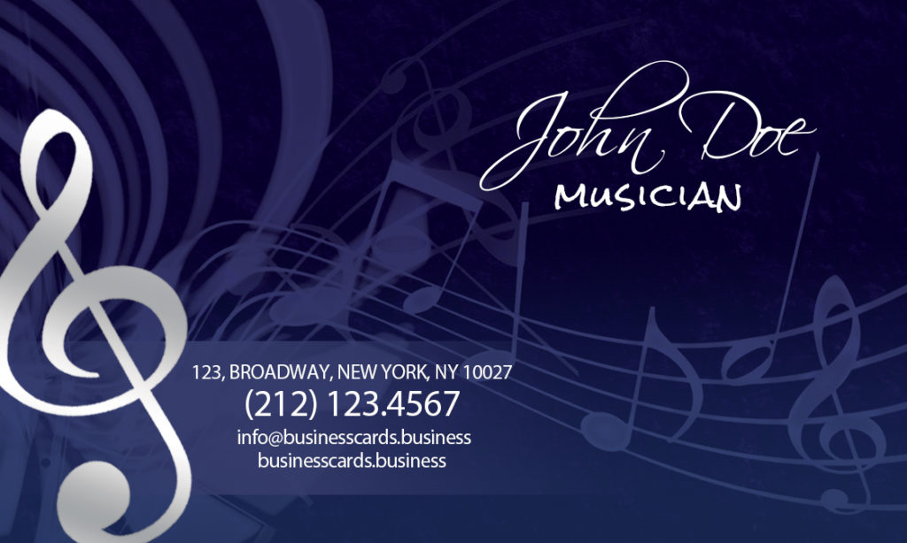 Music Business Cards Business Card Tips - Music business card template