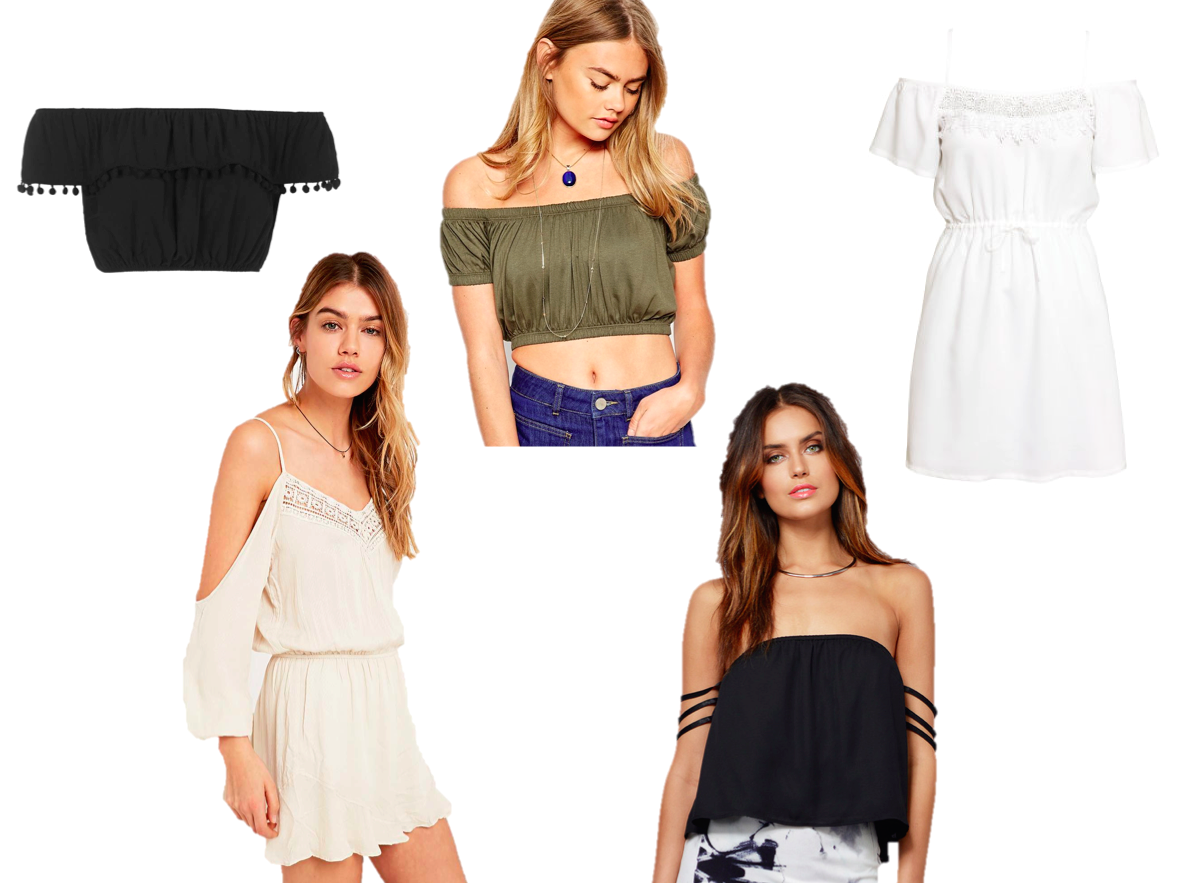 wish list, fashion, off the shoulder, high street, ss15, topshop, h&m, tobi