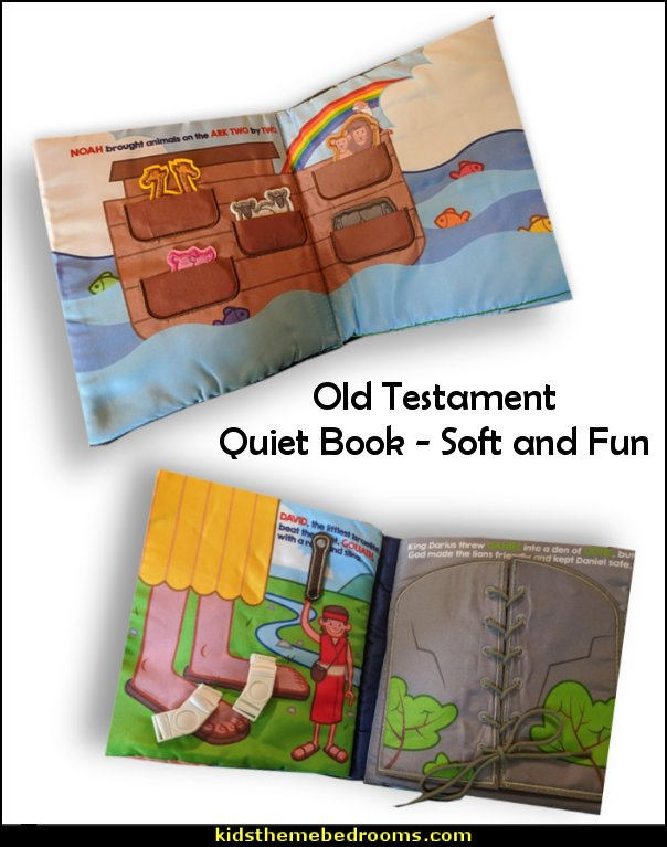 Old Testament Quiet Book    Jesus for kids - Bible Stories wall murals - Christian Bible Verse wall decal stickers - Christian home decor - bible verse wall art - Christian kids toys - Lion and Lamb toddler beds - bible stories for kids - Christening Baptism Gifts - Psalm bedding - Scripture throw pillows - bible verse throw pillows
