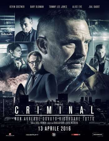 Poster Of Criminal 2016 Dual Audio 350MB BRRip 480p ESubs Free Download Watch Online Worldfree4u