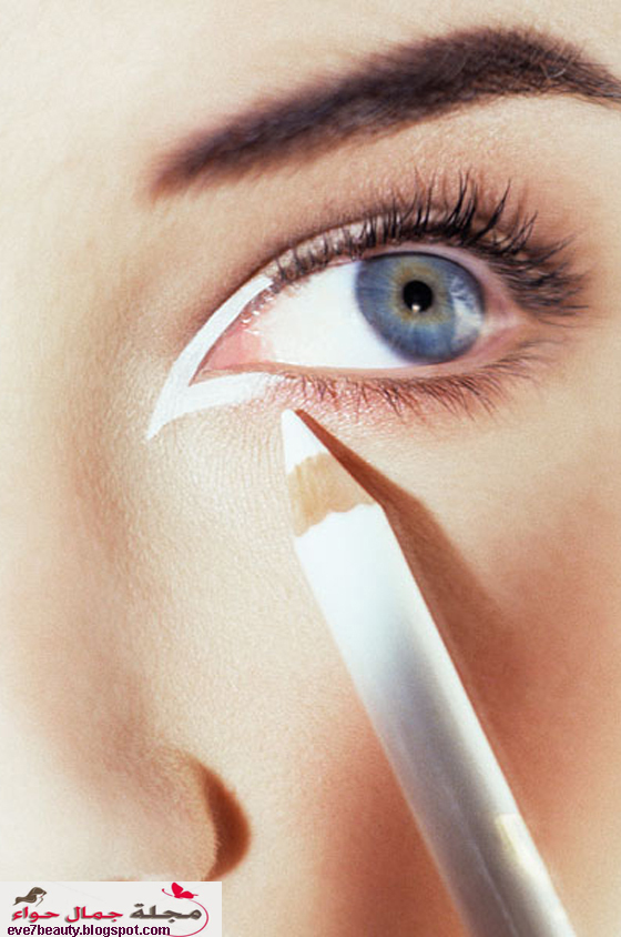 قلم الكحل الابيض - استعمال قلم الكحل الابيض - طريقة استخدام قلم الكحل الابيض