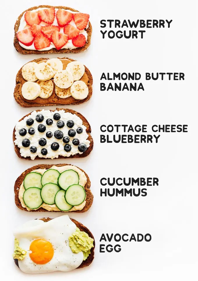 5 HEALTHY TOAST TOPPING IDEAS